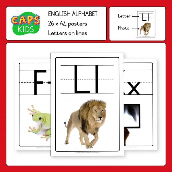 A4 English Alphabet Posters (A–Z)