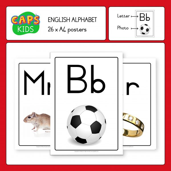 CAPSkids A4 Posters - English Alphabet
