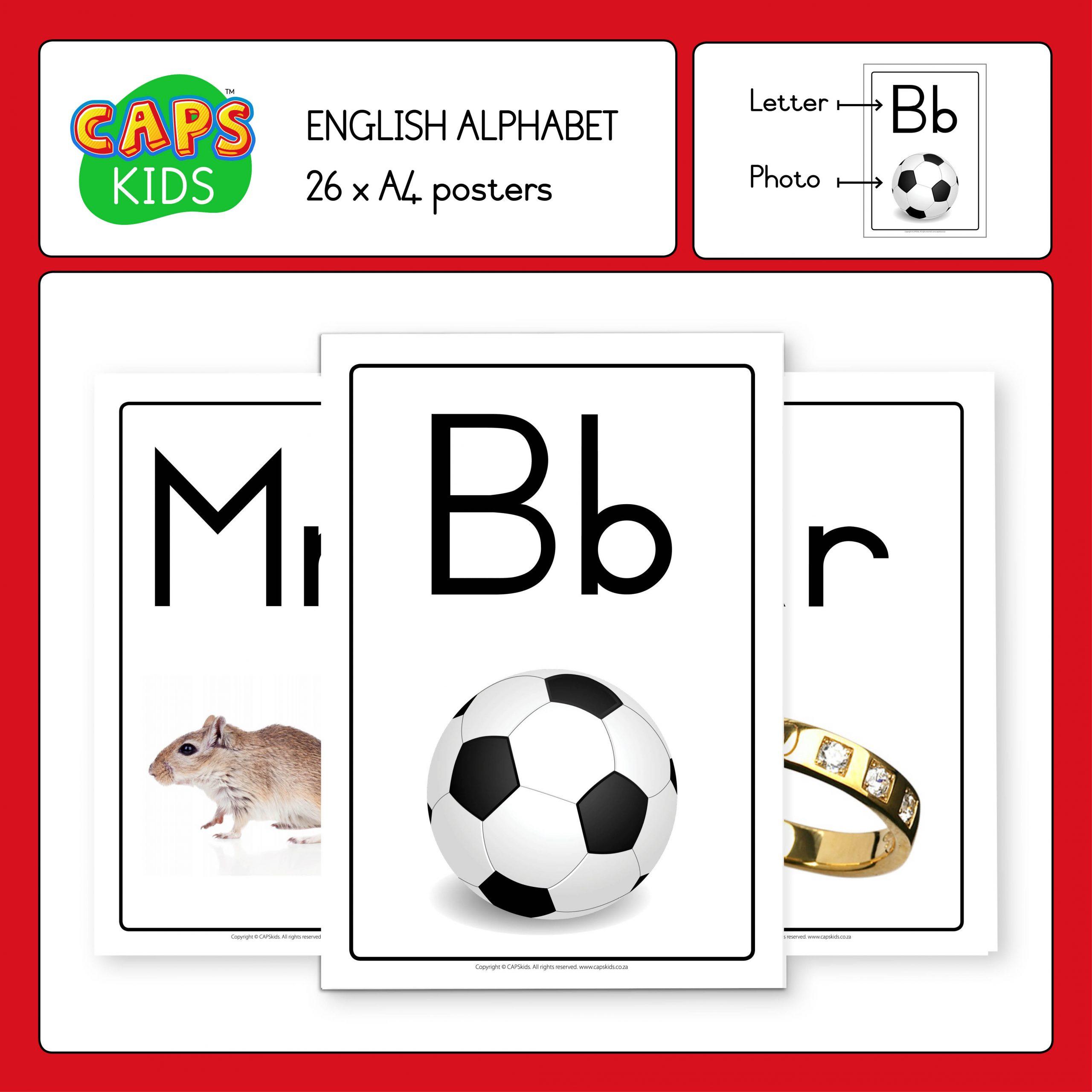 CAPSkids A4 Posters - English Alphabet