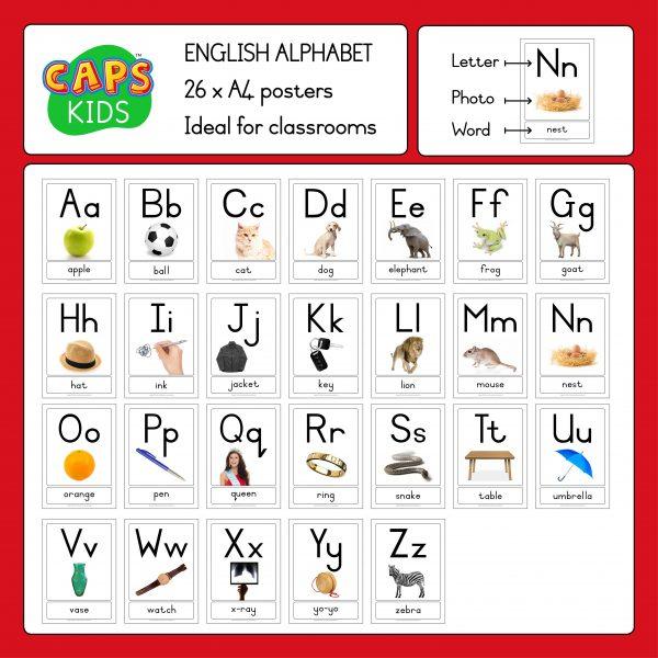 CAPSkids A4 English ABC Alphabet Posters