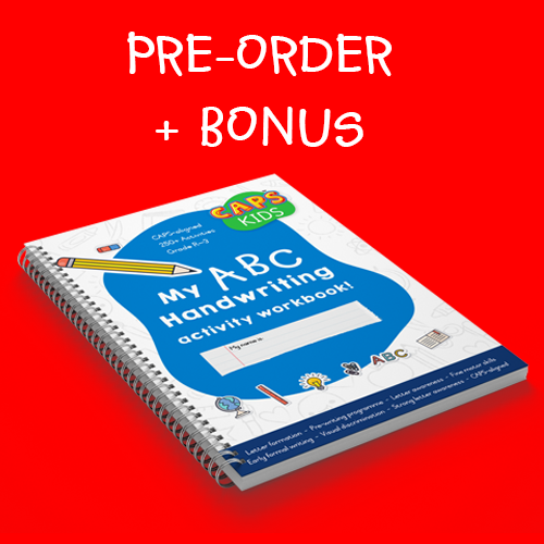 Pre-order Handwriting Workbook